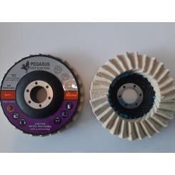 Ламеларен диск со филц за полирање инокс Ф115мм