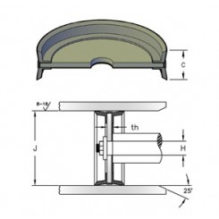 Пневматско клипче со двострано дејство (H)x(J)x(C)